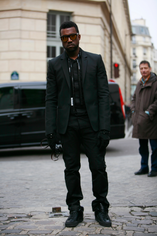 Kanye West in All Black Everything as his brother HOV would sayKanye West Clothing Style